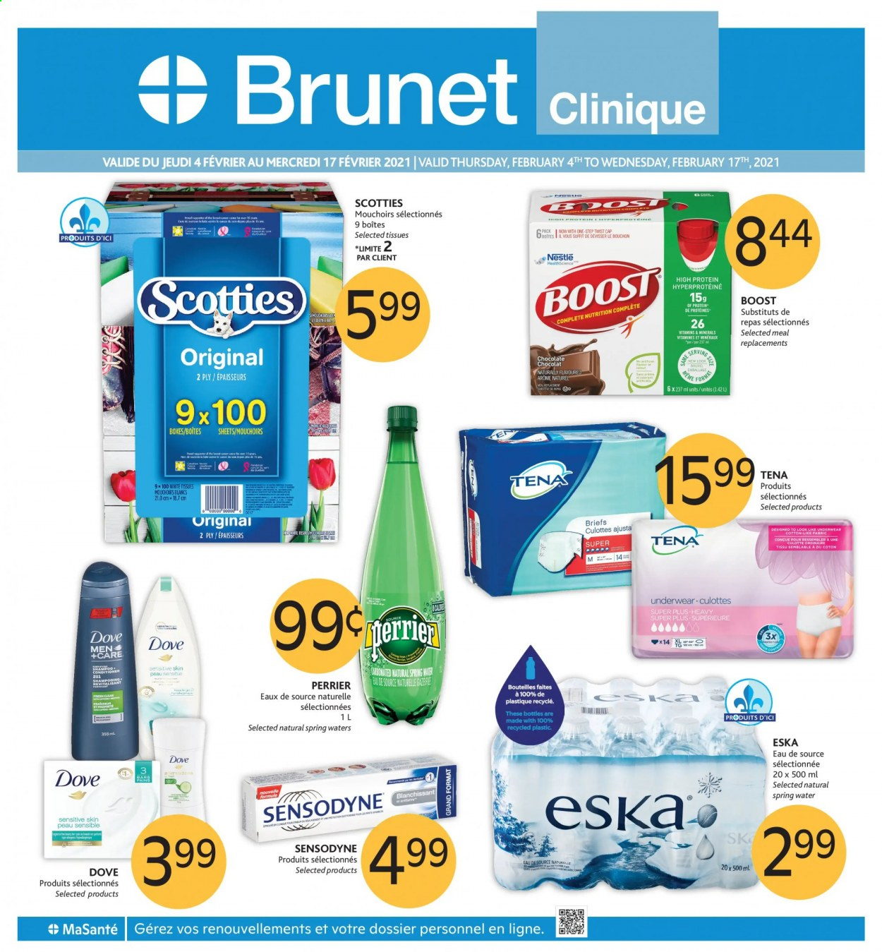 Brunet Clinique Flyer - February 04, 2021 - February 17, 2021 - Sales products - water. Page 1.