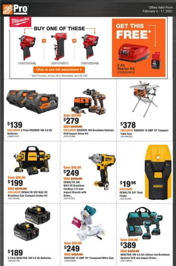 The Home Depot Flyer - February 04, 2021 - February 17, 2021.